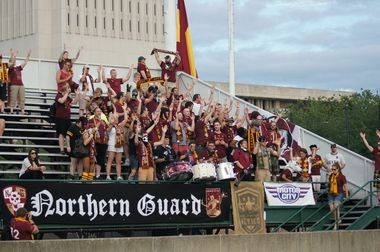Detroit City FC was well-represented in the stands for the team's road game at AFC Cleveland on Friday.