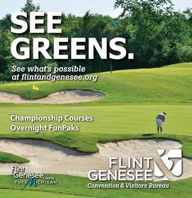 """One of the many ads that the Flint & Genesee Chamber of Commerce unveiled as part of its """"See What's Possible"""" ad campaign for branding the region."""