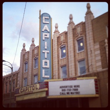 A photo of Capitol Theatre in downtown Flint in 2013.