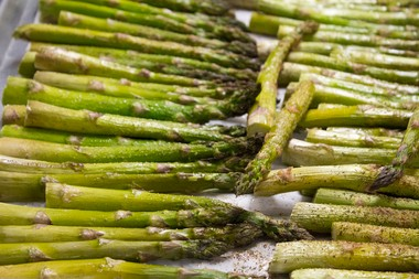 In this file photo, asparagus is ready to be served at John Glenn High School in Bangor Township