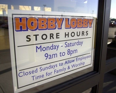 Hobby Lobby is closed on Sundays.