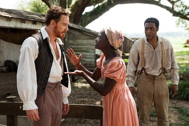 """Michael Fassbender, Lupita Nyong'o and Chiwetel Ejiofor in """"12 Years a Slave."""""""