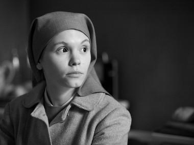 "Agata Trzebuchowska in a scene from ""Ida."""