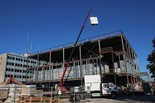 Crews work at the site of what will be the new Muskegon County Jail on September 23, 2014. The facility will have 544 beds for inmates and is expected to open in June, 2015.