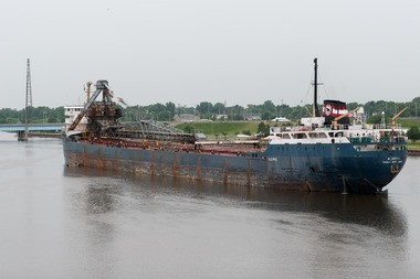 The Algorail has been stuck on the Saginaw River between Liberty and Veterans Memorial bridges since about 5 a.m. Tuesday, June 25.