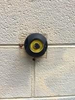 The meter reader on the outside of Columbus Laundromat, 1000 Columbus Ave.