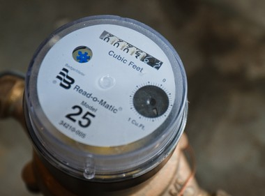 A Bay City residential water meter. (Times file)
