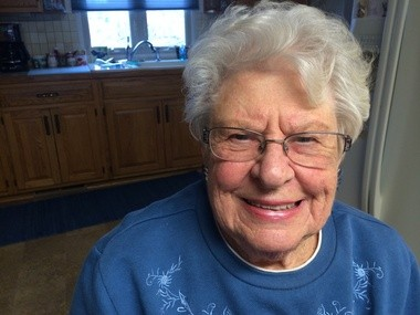 Geraldine Rezler at her home in Bay City on Fat Tuesday, Feb. 17.