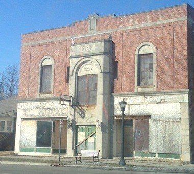 The former International Order of Odd Fellows Hall building at 1900 Broadway, boarded up and in disrepair on March 12, 2015.