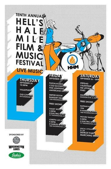 The HHMX music lineup. Poster design by Trevor Edmonds.