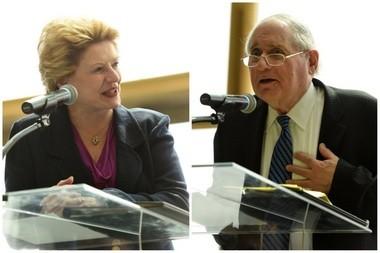 U.S. Sen. Debbie Stabenow and former U.S. Sen. Carl Levin.