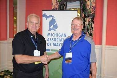 Auburn Mayor Lee Kilbourne and Baraga Village President Wendell Dompier were elected president and vice president, respectively, of the Michigan Association of Mayors.