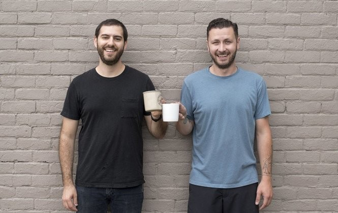Dave Daniele, left, and Andrew Heppner, owner of Populace Coffee, are opening their new coffee shop at 810 Saginaw St., on Monday, Oct. 9.