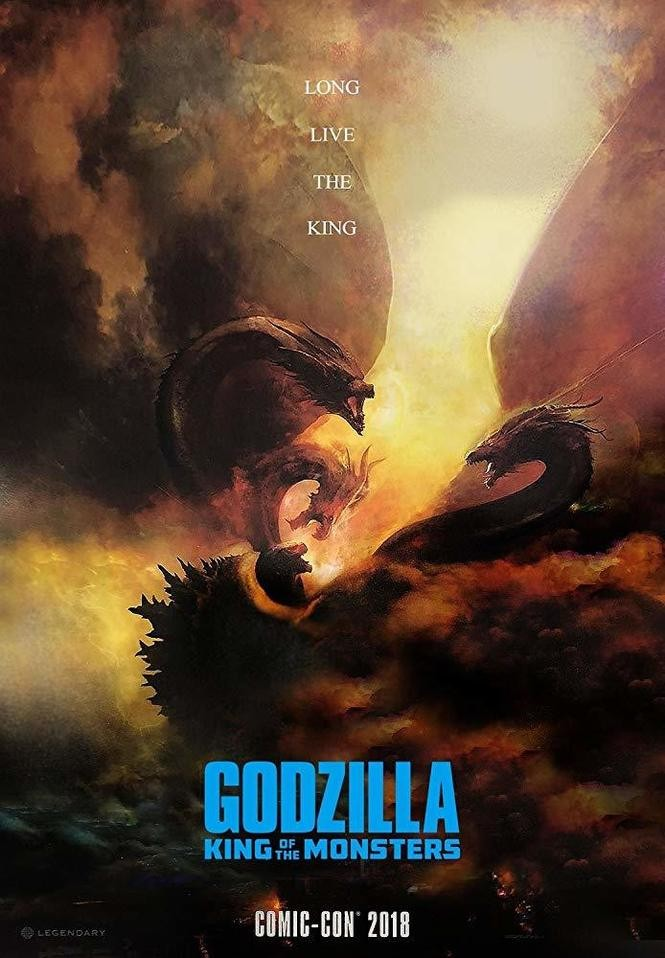 "San Diego Comic-Con 2018 poster for ""Godzilla: King of the Monsters."""