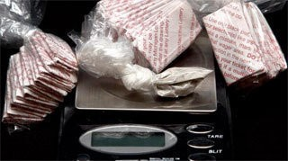Heroin seized by police in Bay County.