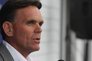 Macomb County Executive Mark Hackel in a May 29, 2013 file photo. Hackel wants Detroit Mayor Mike Duggan, rather than the city's emergency manager Kevyn Orr, at the table in negotiations over regionalizing the Detroit Water and Sewerage Department.