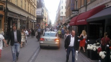 A photo of Downtown Stockholm, Sweden taken by Dan Gilmartin, executive director of the Michigan Municipal League during the United Nations Future of Places convention in June 2013.