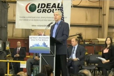 Gov. Rick Snyder announces a plan to request 50,000 immigrant visas over five years specifically for high-skilled workers who would move to Detroit.