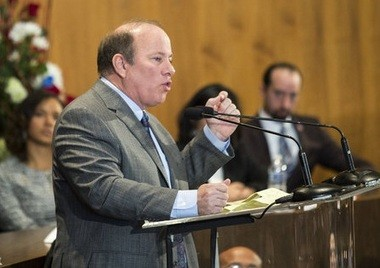 Detroit Mayor Mike Duggan was granted authority over the city's water department by Emergency Manager Kevyn Orr on Monday, July 28, 2014.