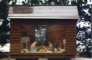 A structure and Nativity scene built by John Satawa's father in 1945 that became the focus in a case about the freedom of religion. Courtesy of the American Freedom Law Center