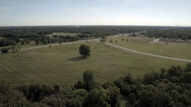 A panoramic view of the Areo Modelers field at Rouge Park, where the aircraft ranges from World War II-era models to 21st Century drones. (Bridge photo by Millard Berry)