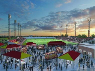 A rendering of Keyworth Stadium in Hamtramck that shows proposed renovations by the Detroit City Football Club ownership. City FC hopes to move into Keyworth Stadium for the 2016 season. The rendering was posted on the team's Facebook page.