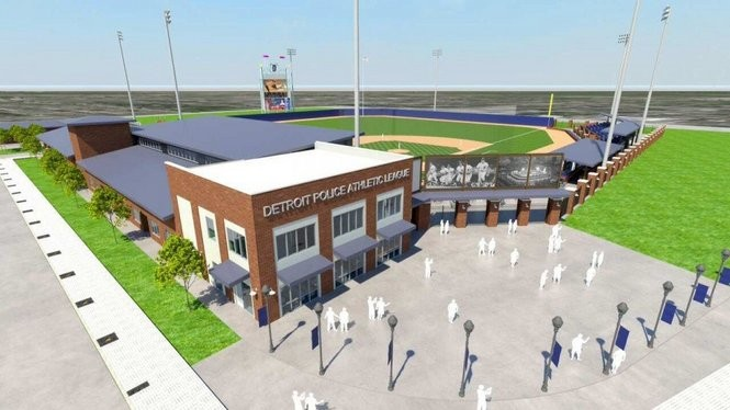 Detroit PAL's plans for the site include office and banquet space for its new headquarters, while preserving the field where the Detroit Tigers played for 87 years.