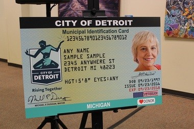 A representationof the identification cards the municipal ID program will give out.