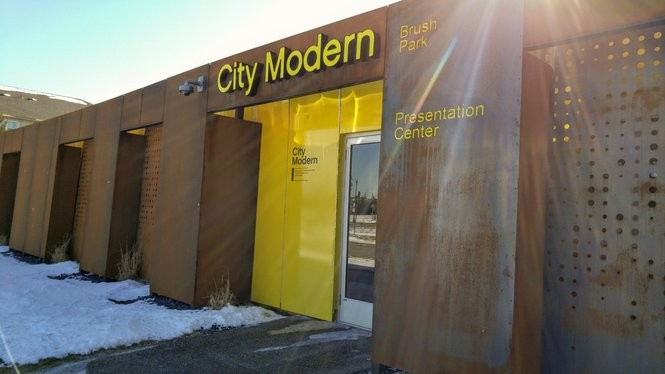 The City Modern presentation center is open from 11:30 a.m. to 5:30 p.m. daily except Wednesdays.