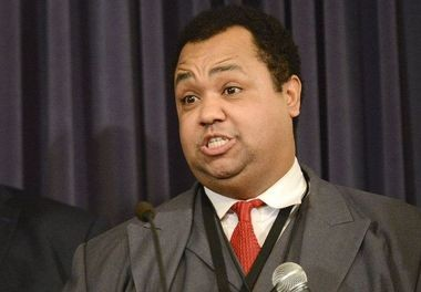 State Sen. Coleman Young II, D-Detroit, speaks at a January 2017 press conference. (Emily Rose Bennett   MLive.com)