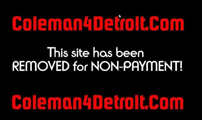 A screenshot of the now defunct Coleman4Detroit.com website as of noon on Friday, June 9, 2017.