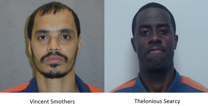 Vincent Smothers and Thelonious Searcy, Michigan Department of Corrections photos