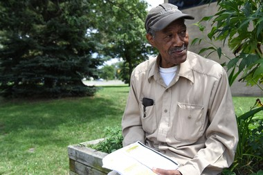 Frank Thomas, 73 of Detroit, outside of Joseph Walker Williams Center in Virginia Park, July 14, 2017. Thomas was 23-years-old when he was arrested for looting during the riots of 1967. (Tanya Moutzalias | MLive Detroit)