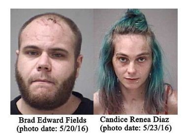 Brad Fields and Candice Diaz. police images