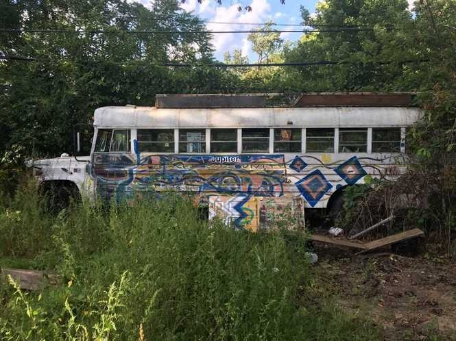 The Jupiter IV, a broken-down bus owned by a good friend and one-time roommate of Zack Zduniak.
