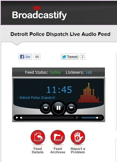 Live Detroit police action direct from your living room