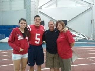 Jeff Heath with his family as a senior at SVSU