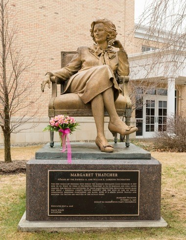 Margaret Thatcher's statue today at Hillsdale College