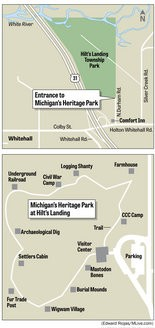 Because it is a newly-constructed facility, attendees are encouraged not to rely on GPS systems to locate Michigan's Heritage Park in Whitehall Township.