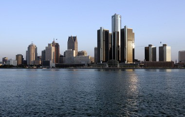 The Detroit River and city skyline are shown June 14, 2006. The river was so polluted at one time it helped encourage passage of the federal government's Clean Water Act of 1972.