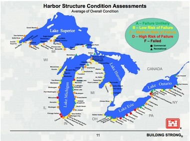 Pier collapse feared at 'high risk' Lake Michigan harbor
