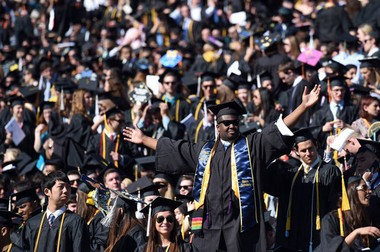 University of Michigan students at the May 2015 commencement ceremony