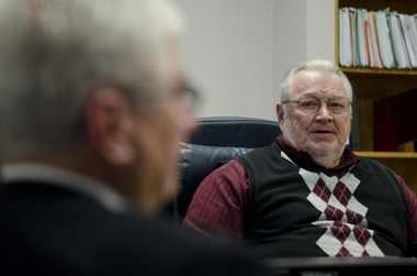 Former Flint emergency manager Ed Kurtz, right. Lauren Justice | MLive.com