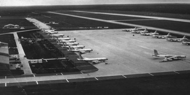 A 1960s photo of Wurtsmith Air Force Base in Oscoda. The base served primarily as a combat crew and bomber training base between 1923 and 1993, when it closed. Wurtsmith played an important role in World War II, Vietnam and the Persian Gulf War, hosting the 134th Army Air Force Base Fighter Unit and 379th Bombardment Wing.