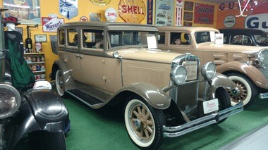A late 1920s Nash Motors automobile on display at the Rambler Ranch classic car museum in Elizabeth, Colorado.