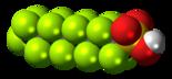 A perfluorooctanesulfonic acid (PFOS) molecule.