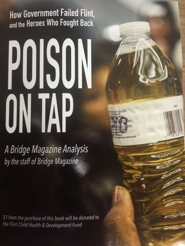"""The cover of the new book """"Poison on Tap"""" details the Flint water crisis."""
