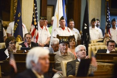 Sen. Patrick Colbeck, R-Canton, is connected to the Fixing Michigan administrative account. He uses it to fund a Memorial Day service in the state Senate chambers, he said. Pictured is the 2016 Memorial Day service on Thursday, May 26, 2016.