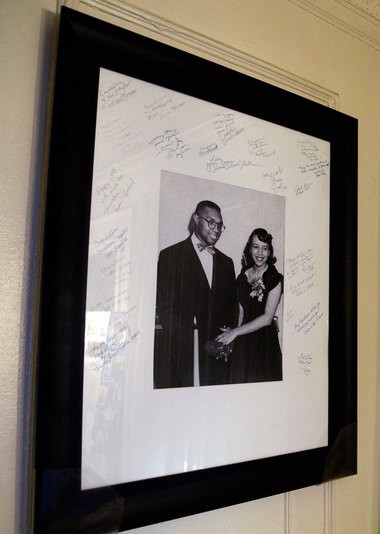 A photo of Triplett and his wife Leonore, framed for their 60th wedding anniversary in 2010, hangs at his home in Detroit. (Mike Mulholland | MLive.com)