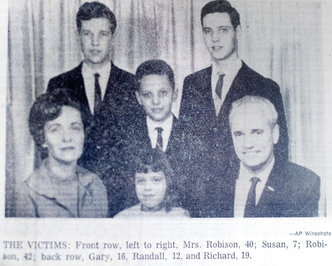The Robison family, pictured in a story that ran in The Grand Rapids Press in July 1968